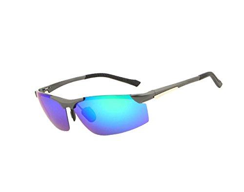 Arctic star Polarized Colour Film Aluminium Magnesium Sunglasses Sport Driving Riding Glasses (Green ()