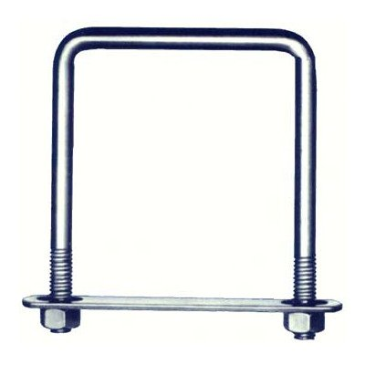 Hindley 41302 2'' X 3'' Square Zinc U-Bolts by Hindley (Image #1)