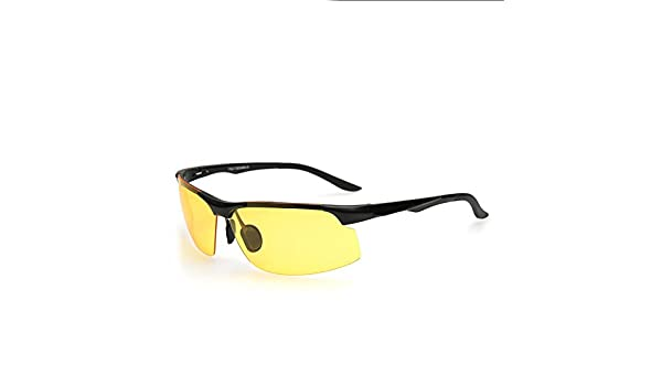 Gafas De Sol Polarizadas De La Visión Nocturna Polarizadas Magnesio De Aluminio De Las Gafas De Sol De Los Hombres Que Montan Las Gafas De Deporte,B: ...