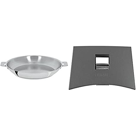 Cristel Mutine P24Q Fryingpan 9 5 Silver With Cristel Mutine Spplmag Set Of Handles Grey
