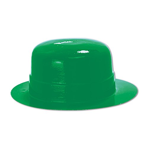 Beistle 33621 48-Pack Miniature Plastic Derbies Party Hat, 4-3/4-Inch by 2-Inch, (Green Plastic Derby Hat)