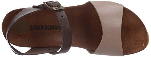 Dr. Brinkmann 710675 - zuecos de cuero mujer beige - Beige (Taupe/Chocolate)