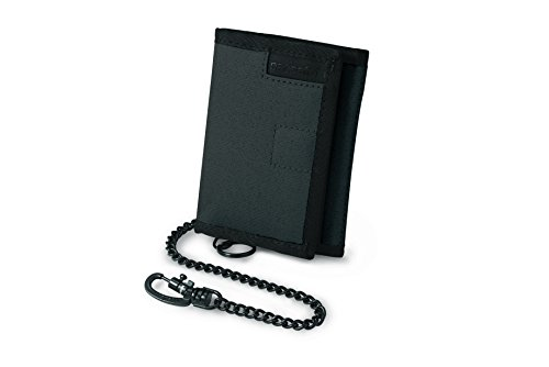 Pacsafe RFIDsafe Z50 Anti-Theft RFID Blocking Tri-Fold Wallet, Charcoal