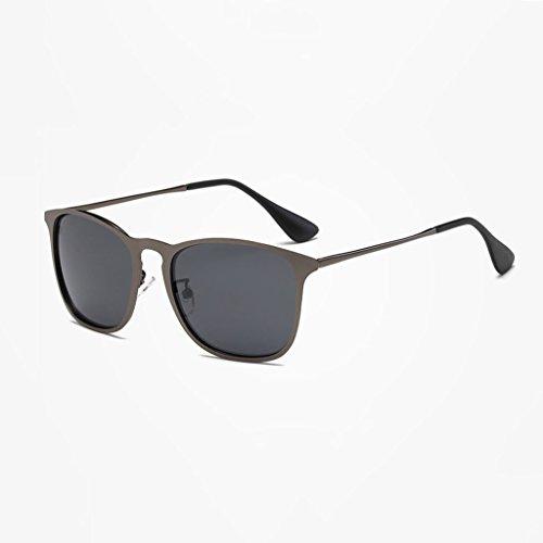 Lens Moda Lens Black Unisex Nueva LX polarizadas Black Sol UV Frame Gafas Colores de Gafas Gray Color Protección Gray Frame de Black Conducción Gray Exterior LSX de Retro ffwBpA
