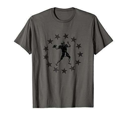 (Quarterback T-Shirt Gifts American Football Player Coaching)