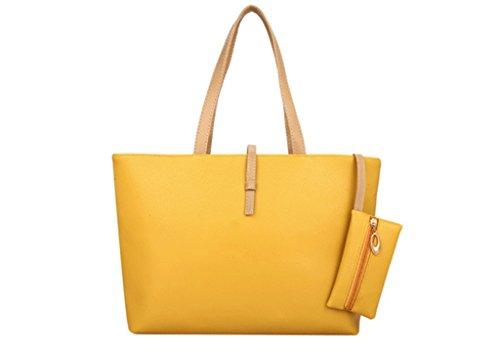 Colorful Yellow Belt Commuter Women Shopping PU Fashion Bag Shoulder Handbags Drasawee Large Buckle Leather Orange wAg6n6zq