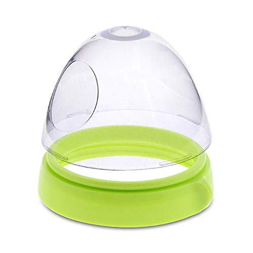 Caps and Collars Compatible for Comotomo Baby Feeding Bottles,Set of 2,Green