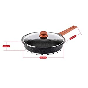 Maifan Stone Non-stick Pan Induction Cooker Gas Stove For Frying Pan 28cm