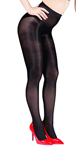 Kffyeye 70D Women's Thickness Ultra Shine Stockings Pantyhose, Ultra Shimmery PLUS Footed Tight (Black)