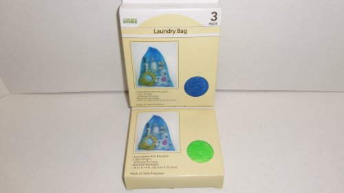 """UPC 639277105806, Mesh Draw String Laundry Bags, 3 Bags Per Box, Size-18"""" X 14"""" Colors Vary."""