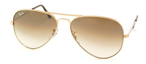Ray-Ban 3025 Aviator RB 3025 001/51 58mm Gold Frame Brown Gradient 58mm ()