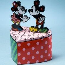 - Romero Britto Disney Lidded Trinket Box Mickey & Minnie