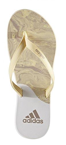 adidas eezay ice cream W - Chanclas para Mujer, Amarillo - (AMASEN/GRIVAP/FTWBLA) 43 1/3
