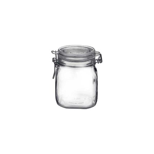 Bormioli Rocco 4949Q455 37-3/4 Oz Clear Top Fido Jar - 12 / CS by Steelite