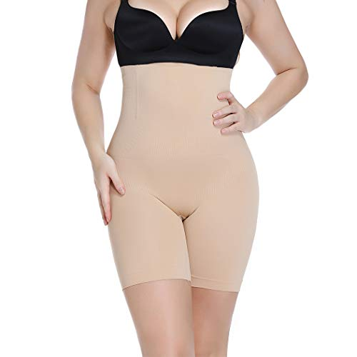 Womens Shapewear Tummy Control Shorts Hi-Waist Body Shaper Panties Seamless Thigh Slimmers Cincher