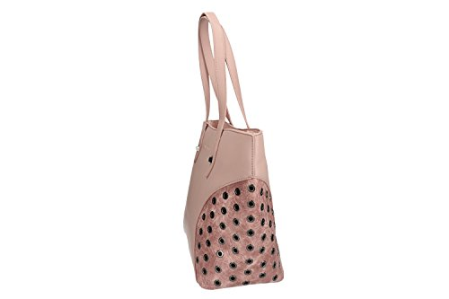 Borsa donna a spalla PIERRE CARDIN rosa con apertura zip VN1263