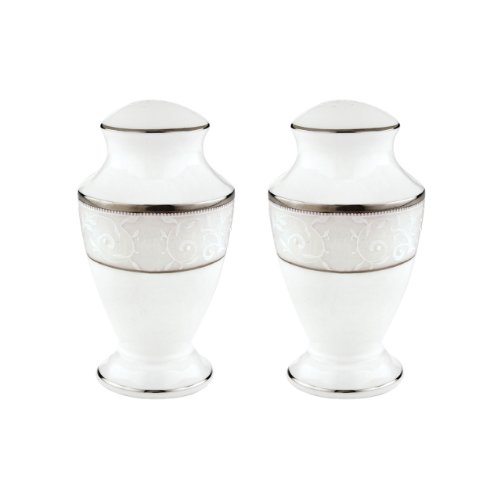 Lenox Opal Innocence Salt and Pepper Set, White