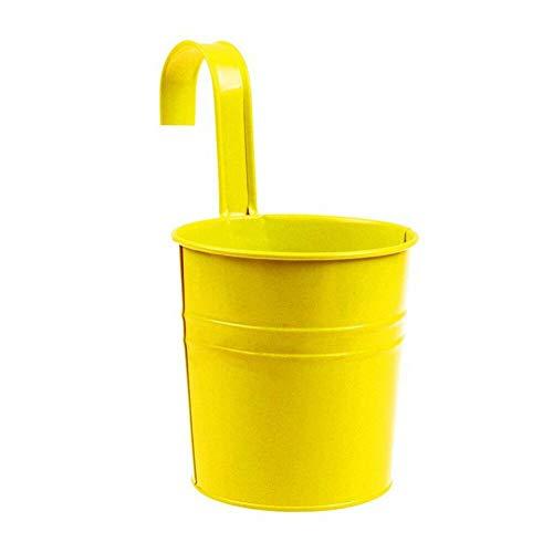 [해외]NATFUR Modern Metal Planter Flower Bucket Hanging Pot Pail Tin Home Wall Graden Decor | Colors - Yellow / NATFUR Modern Metal Planter Flower Bucket Hanging Pot Pail Tin Home Wall Graden Decor | Colors - Yellow