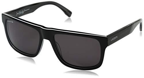 Lacoste Men's L826S Rectangular Sunglasses, Black, 57 mm (Sunglasses Lacoste Black)