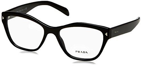 - Prada PR27SV Eyeglass Frames 1AB1O1-53 - Black PR27SV-1AB1O1-53
