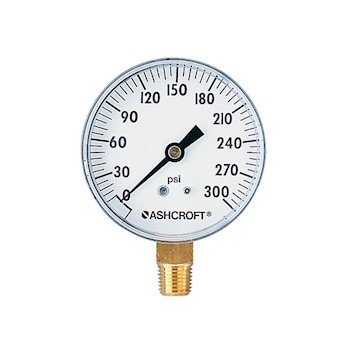 Ashcroft 10052.5 0 to 200 psi Utility Gauge, 2 1/2