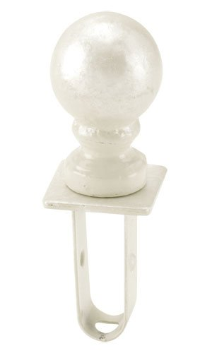 (Ball Shaped Finial Retails Square Fitting Ivory Finished Boutique)