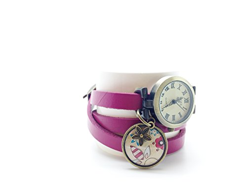 Gift wrist watches personalized womens watch choice of colour leather watch, vintage woman watch wife gift