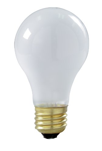Satco S8518 100 Watt 910 Lumens A19 Incandescent Rough Service Light Bulb, 4-Pack