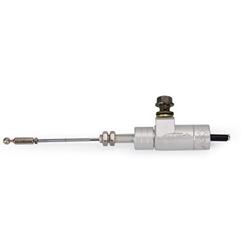 ETbotu Universal Motorcycle Clutch Master Slave Cylinder Hydraulic Clutch Brake Pump Silver:
