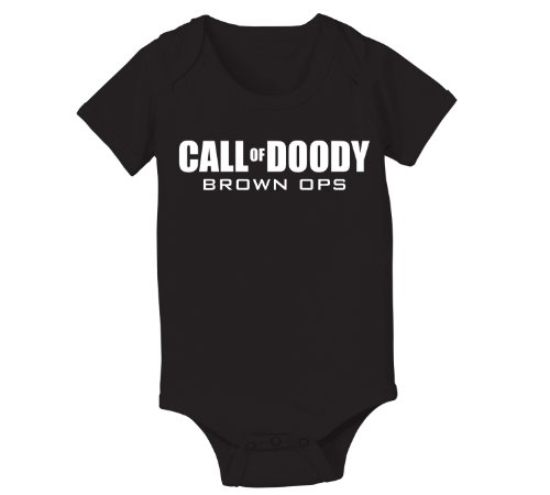 Call Of Doody Funny Video Game Infant Baby One Piece 6 Months Black