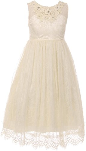 Ivory Special Occasion Dress - 5