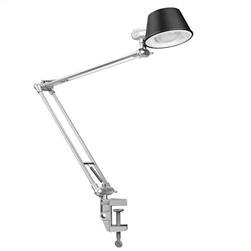 al Desk Lamp, Architect C-Clamp Table Lamp Flexible Clamp-on Mounted Light, Touch Control, Brightness Adjustable, Memory Function for Drawing Tasking Working Study Reading ()