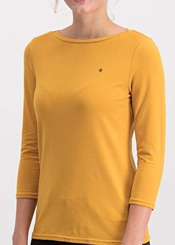 Blutsgeschwister Damen Shirt logo 3//4 sleeve T-Shirt mit ¾-Arm U-Boot-Ausschnitt