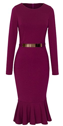 See the TOP 10 Best<br>Belted Colorblock Fit-And-Flare Dress