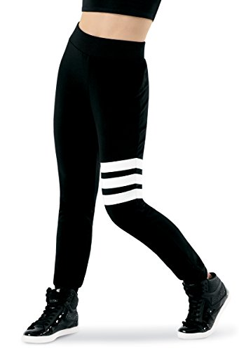 Balera Joggers Girls Pants for Dance with Three Stripes Slim Fit Bottoms Black Adult Small from Balera