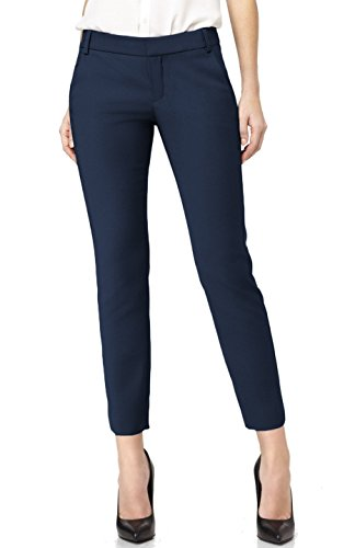 navy blue dress pants for women - 1