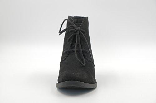Dunes Women's Black Lacie Boots Faux Suede B8f8wYxq