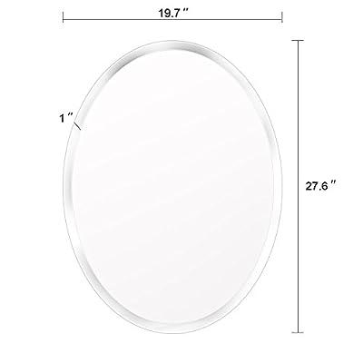 Beauty4U Rectangle Mirrors - 23.6 x 35.5inch Beveled Wall Mirror HD Vanity Make Up Mirror
