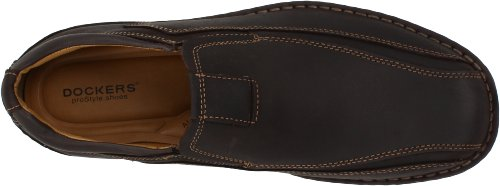 Agent Dockers Mens Slip-on Mocassin Marron Foncé