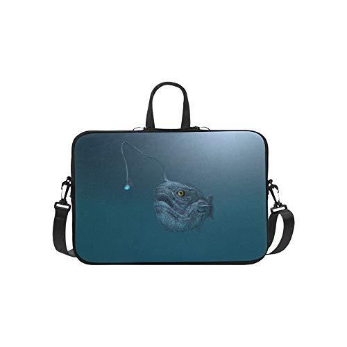 Computer Made Illustration of an Ancient Angler Fi Pattern Briefcase Laptop Bag Messenger Shoulder Work Bag Crossbody Handbag for Business Travelling