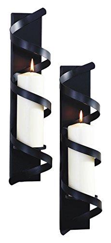Medium Twist Candles - ArtMaison.ca 4x18 Twist II, Metal Wall Sconce (Set of 2) 4