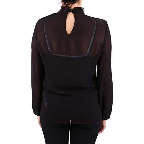 Twin Set PA82MR00006 Viscose Blouse Noir Femme wxap6qwB