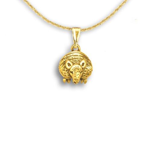 14k Gold Facing Armadillo Pendant by The Magic Zoo (Armadillo Costume)