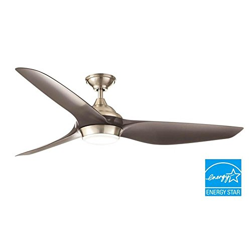 Home Decorators Collection YG638-BN Bachton 60 in. LED DC motor Brushed Nickel Ceiling Fan