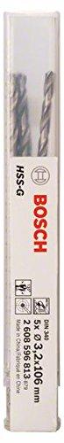 Bosch 2608596809 Foret /Ã/ m/Ã/©taux rectifi/Ã/© HSS-G DIN 340 /Ã/˜ 2 mm 5 pi/Ã/¨ces