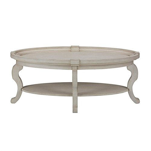 Jofran Sebastian Oval Coffee Table in Antique Cream (Coffee Tables Cream)