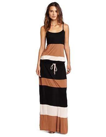 D.E.P.T. Women's Flowy Crepe Jersey Maxi Dress, Black, Small