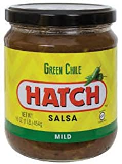 Hatch Green Chile Salsa, Mild 16 Oz (Pack of 6)