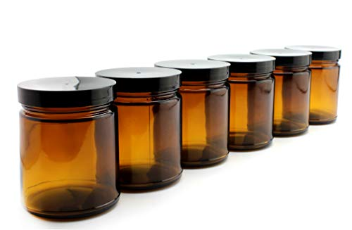 s Jars (6-Pack); Straight Sided Cosmetic Jars, Great for Body Butter, Creams, Stash Jars, Etc. ()