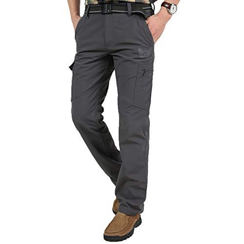 Zoerea Pantalones De Senderismo Para Hombre Invierno Grueso Trekking M Gris Ebay